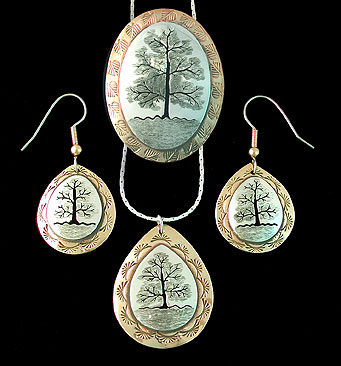 lebensbaum, tree of life, pin, pendant, brooch, pin, earrings necklace